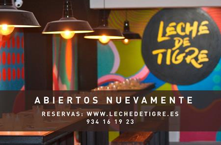 #Nombre#, Leche de Tigre, te brinda la mejor cocina peruana en Barcelona y también en tu casa!